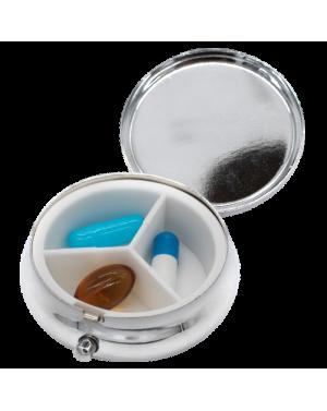 mpocket3 - Boite à pilule métallique ronde à 3 compartiments.