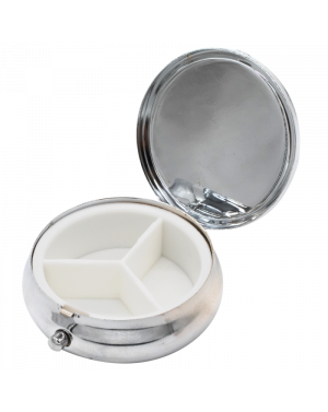mpocket3 - round metal little size box to store your pills for the day